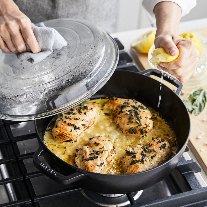 Staub Universal Deluxe Pan with Glass Lid photo