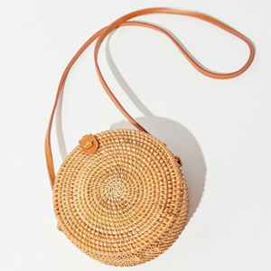 Rattan miniature circle crossbody bag from Urban Outfitters photo