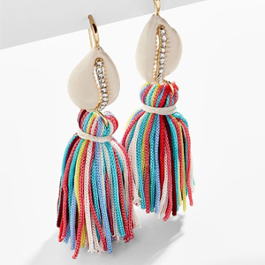 Colorful fringe earrings from Baublebar photo