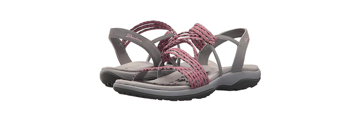 Skechers slim sandals in the color rose photo