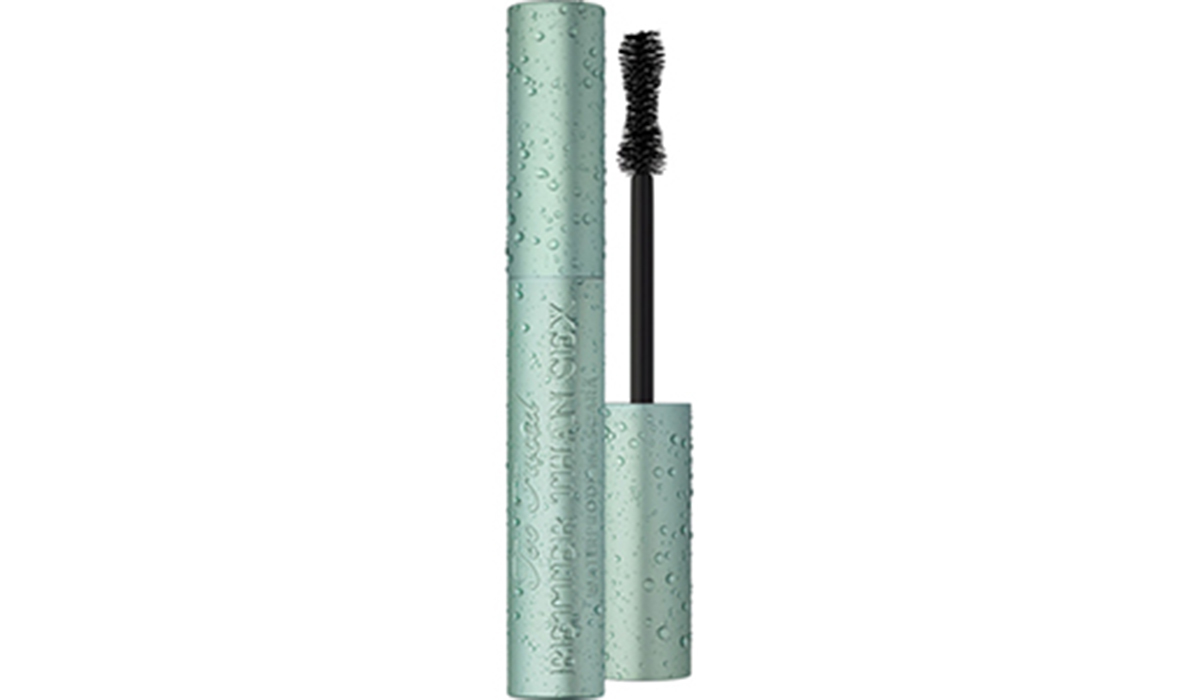 Light blue tube of Too Faced Better Than Sex Waterproof Mascara photo