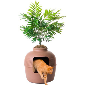 Cat litter planter with filter photo