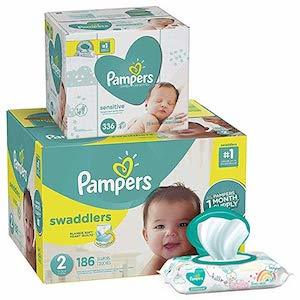 Pampers Swaddlers Disposable Baby Diapers photo