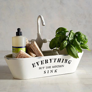 A small sponge holder shaped like a sink photo