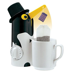 Tea timer shaped like a penguin photo