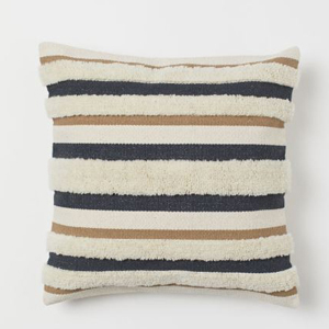 Fringe throw pillow in neutral tones photo