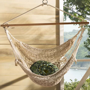 Cotton rope hammock chair photo