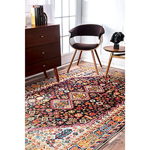 Multicolored, patterned area rug photo