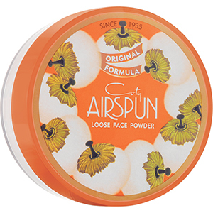 Yellow, white, and orange container of Coty Airspun Loose Face Powder photo