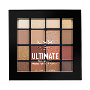 Pan of neutral-colored NYX Professional Makeup Ultimate Shadow Palette photo