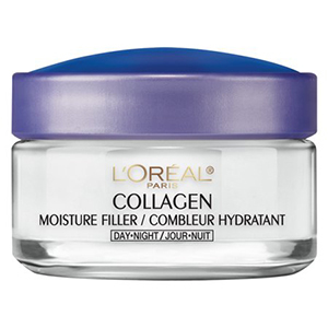 White and purple jar of L'Oreal Paris Collagen Moisture Filler Cream photo