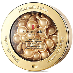Gold container of Elizabeth Arden Ceramide Capsules Youth Restoring Serum photo
