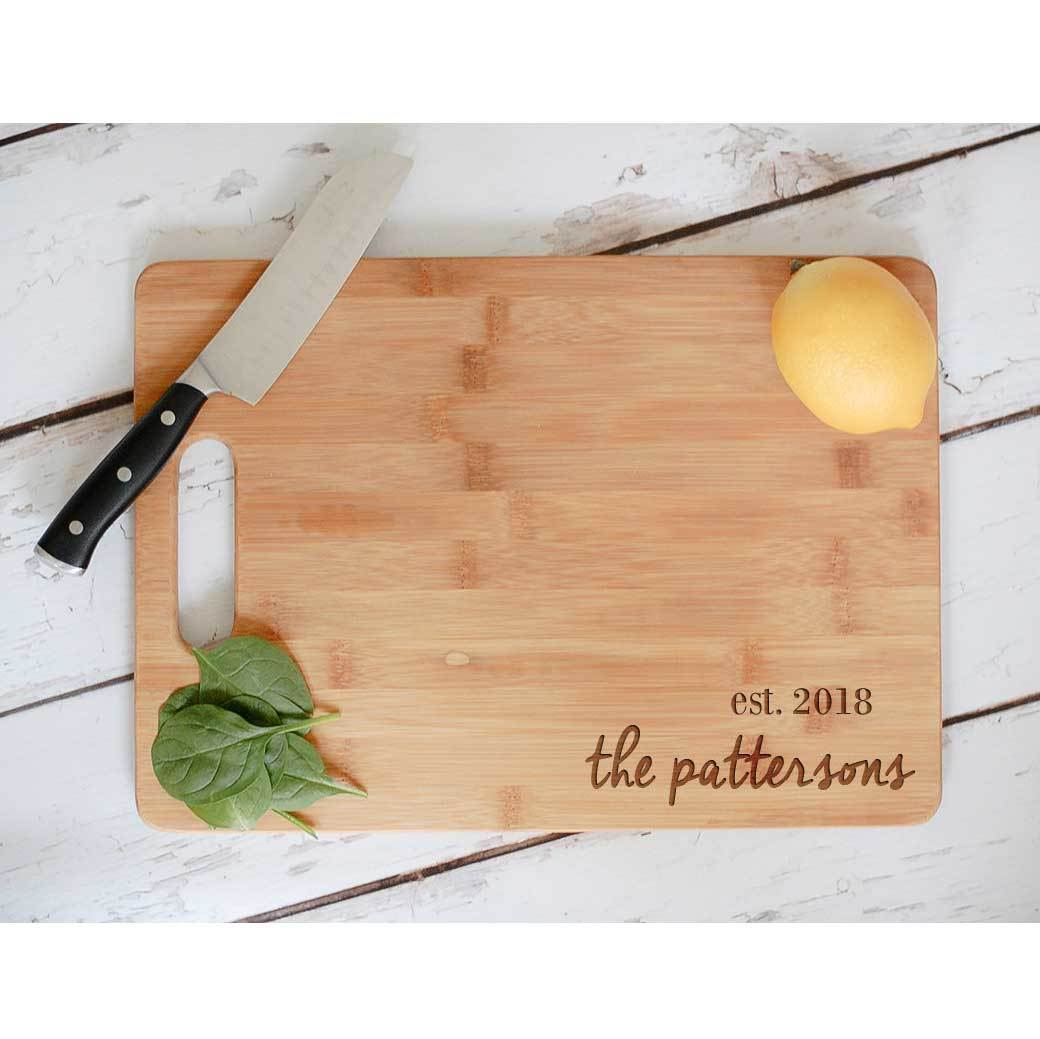 Engraved Bamboo Cutting Board photo