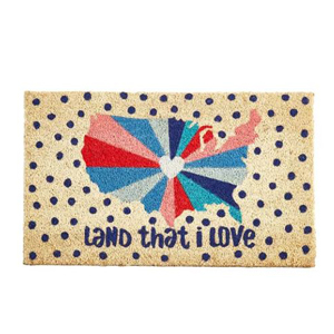 Red, white, and blue doormat featuring the United States photo