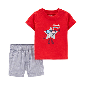 For Baby Boy: Carter's Freedom Rocks Shirt and Shorts photo