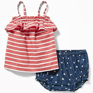For Baby Girls: Old Navy Two-Piece Top & Bloomer Set photo