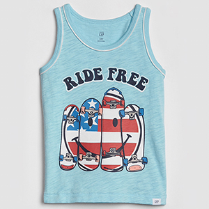 For Toddler Boys: Fourth of July Graphic Tank Top photo