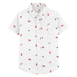 For Preteen Boys: 4th of July Button-Front Shirt photo