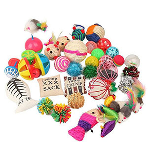 20 colorful cat toys photo