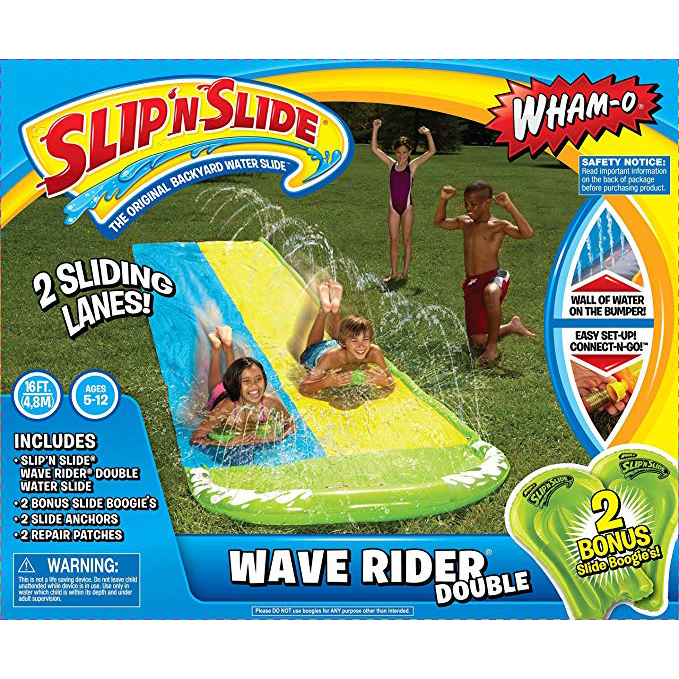 Wham-O Slip N Slide Wave Rider Double with 2 Slide Boogies photo