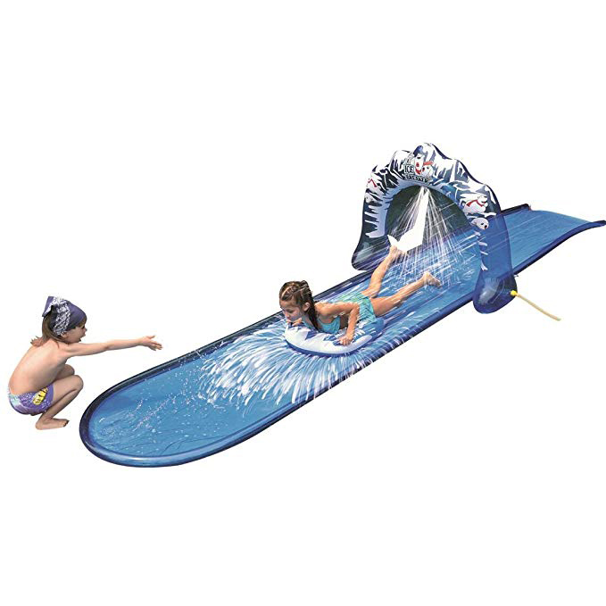 Slip and Slide Waterslide with Racing Raft and Water Sprayer photo