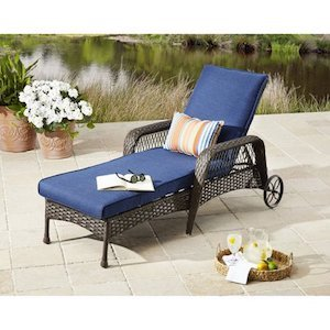 Better Homes & Gardens Colebrook Outdoor Chaise Lounge photo