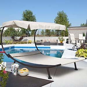 Coral Coast Del Rey Double Chaise Lounge with Canopy photo