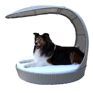 Refined Canine Outdoor Dog Chaise Lounger photo