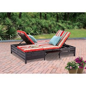 Mainstays Outdoor Double Chaise Lounger photo