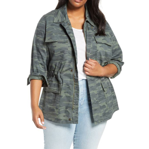 Green size-inclusive utility jacket from Nordstrom photo