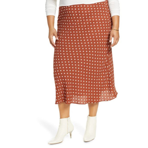 Polka-dot size-inclusive skirt from Nordstrom photo