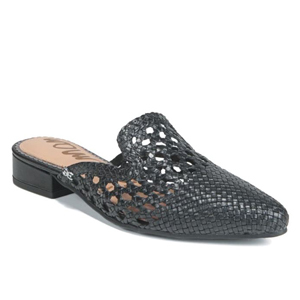 Black woven mules from Nordstrom photo