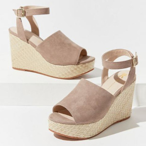 Taupe wedges from Urban Outfitters photo