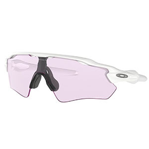 White sunglasses with pink tinted lenses photo