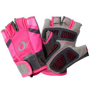 Pink cycling gloves photo