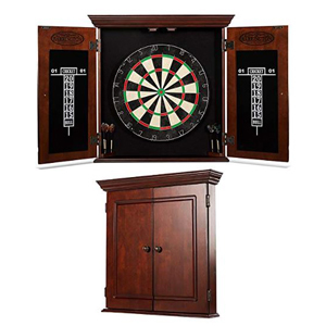 Dartboard cabinet set with accessories photo