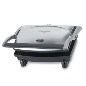 Silver panini press and griddler photo