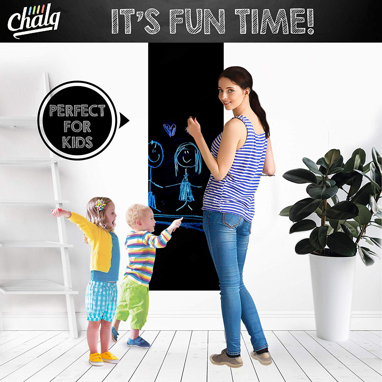 Chalkboard Contact Removable Sticker Poster photo