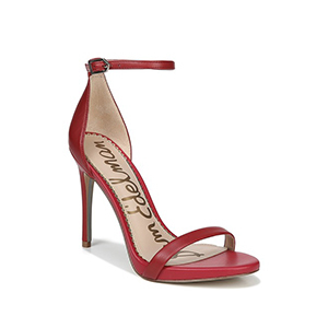 Red Sam Edelman heel with ankle strap photo