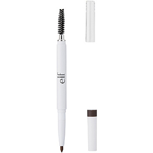 Elf brow pencil with a brush at the opposite end and white packaging. photo