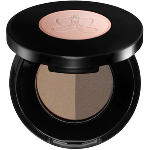 Anastasia brow powder with two shades in a circular container. photo