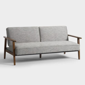 gray convertible love seat from World Market photo