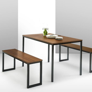 Soho dining table with two matching benches photo