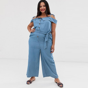 Plus-size chambray jumpsuit from ASOS photo
