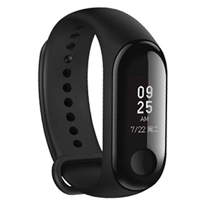 Black matte fitness tracker with a small screen photo