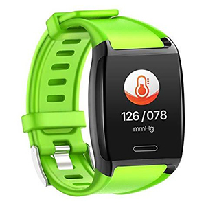 Lime green fitness tracker on Amazon photo