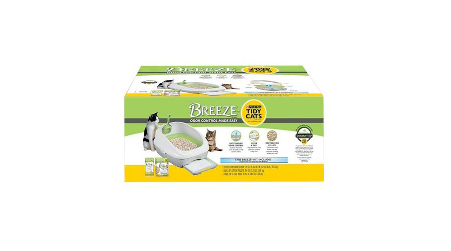 The original Tidy Cats breeze litter box system with pellets and pads photo