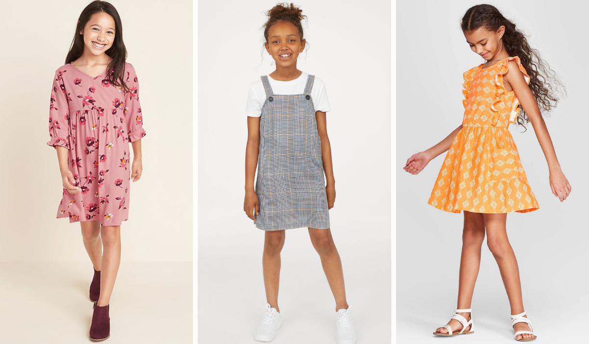 Pretty Back to School Dresses for Elementary Age Girls