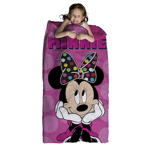 Disney Minnie Mouse Pink Two-Piece Plush Slumber Bag and Backpack Set photo