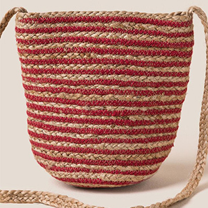 A pictured striped bucket bag photo